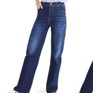 NWOT Madewell Wide Leg Dorset Jeans